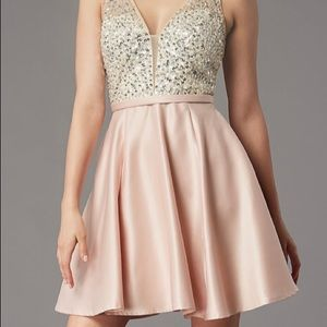 Short Sequin blush Dress by PromGirl